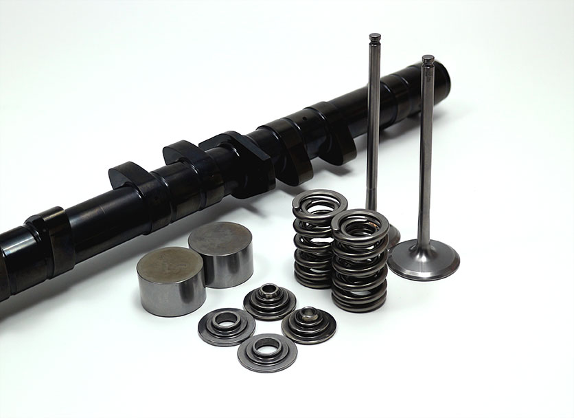 Ultimate Performanced designed camshafts and spring retainers.